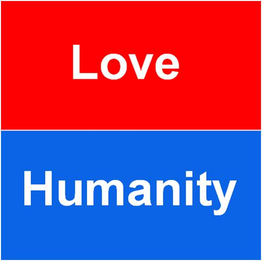 First it was love, now it's humanity.