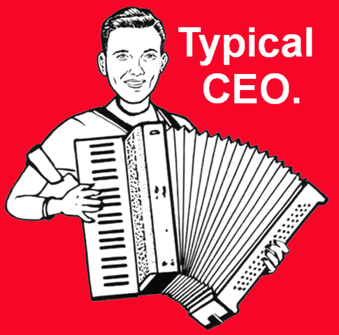 What do chief executives have in common with accordion players?